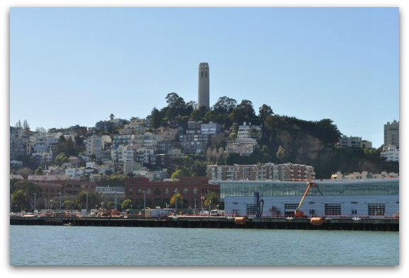 Coit Tower from one of the SF Bay Cruises