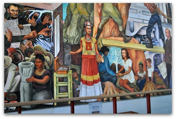 Part of the Diego Rivera fresco at SF's City College