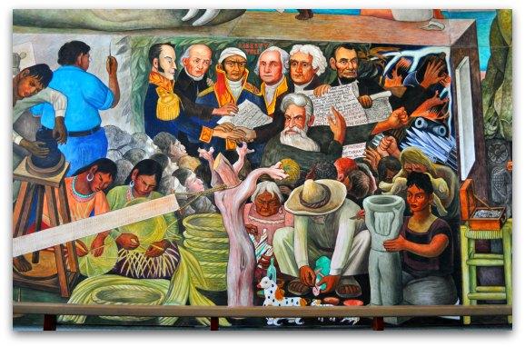 Part of the Pan American Unity Mural in SF