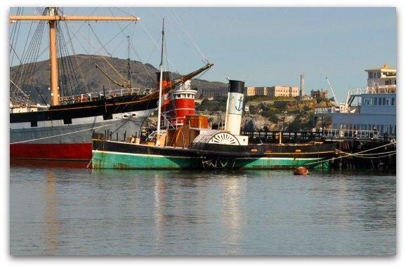 The Eppleton Hall tug boat on the Hyde Street Pier in San Francisco