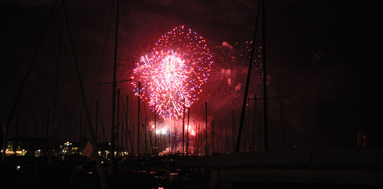Fireworks over the SF Bay on Fourth of July