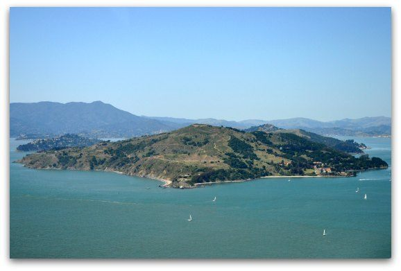 A flight over Angel Island in the San Francisco Bay