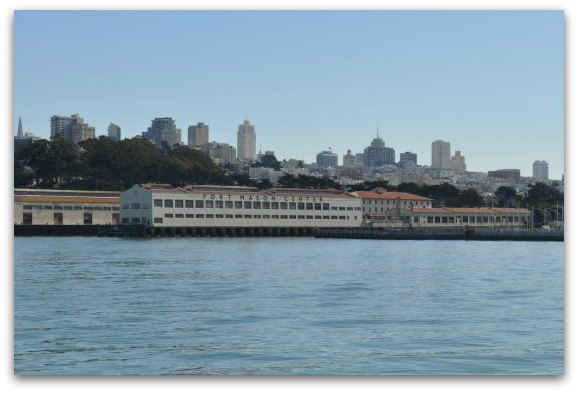 A look at Fort Mason from the SF Bay