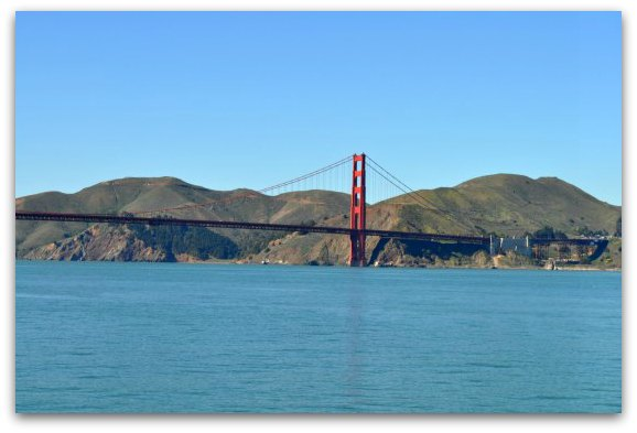 The north tower of the Golden Gate Bridge from an SF Cruise Boat