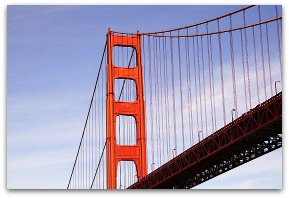 Golden Gate Bridge from the yacht