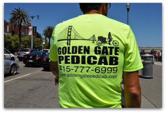 Touring SF on a Golden Gate Pedicab
