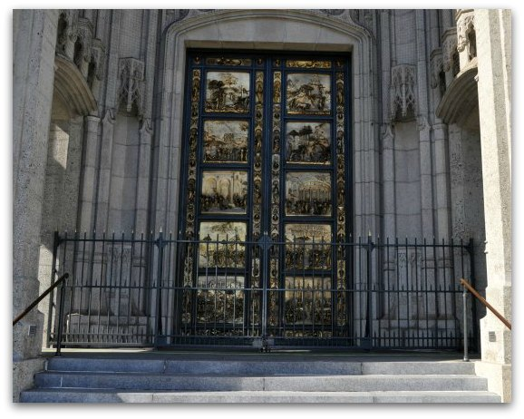 The gates of paradise at Grace Cathedral in San Francisco
