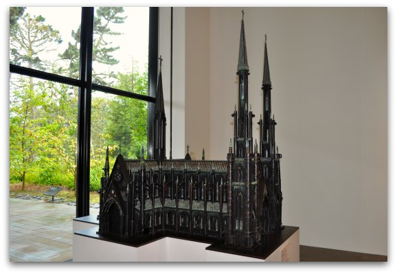 The European Church made out of guns at the de Young Museum in San Francisco