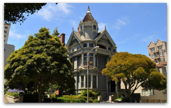 A Victorian, the Haas Lilienthal House, in SF's Pacific Heights district