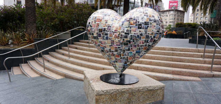 Hearts in San Francisco's Union Square
