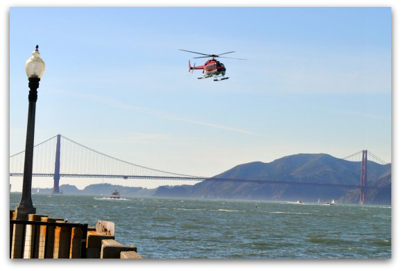 The helicopter tour over the SF Bay