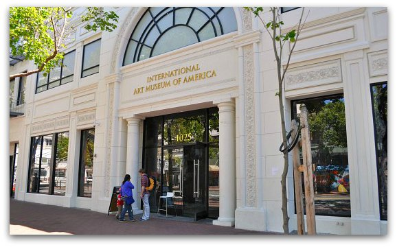 The entrance to the International Art Museum of America in San Francisco