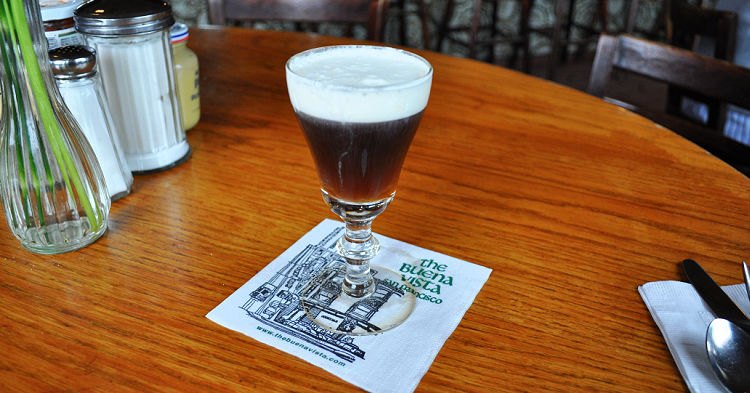 The famous Irish coffee at the Buena Vista Cafe in San Francisco