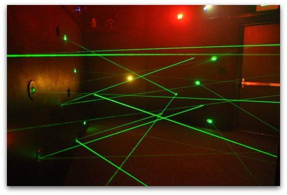 The lazer room for the Lazer Challenge.