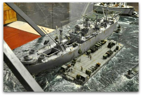 The Liberty Ship model on the SS Jeremiah O'Brien