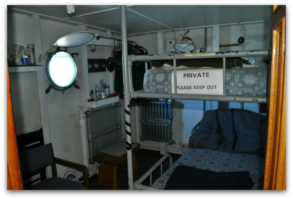 The living quarters inside the SS Jeremiah O'Brien