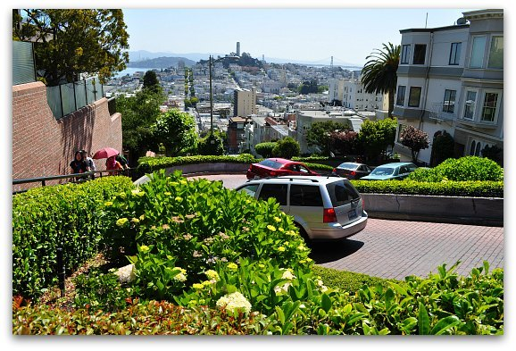 Crooked Lombard Street in June