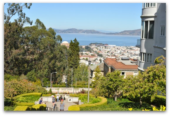 A look at the SF Bay from the Lyon Street Stairs in SF