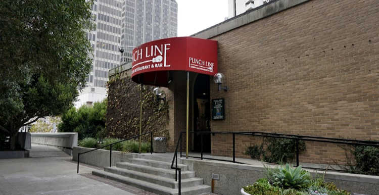 Main Entrance to the Punch Line Comedy Club
