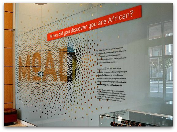 The front entrance of the African Diaspora Museum in San Francisco