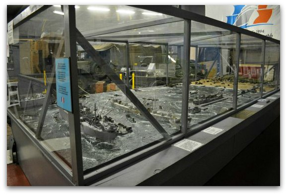 A model showing the Normandy Invasion