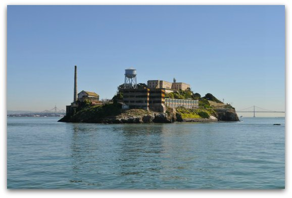 The northern side of Alcatraz Island from a Bay Cruise