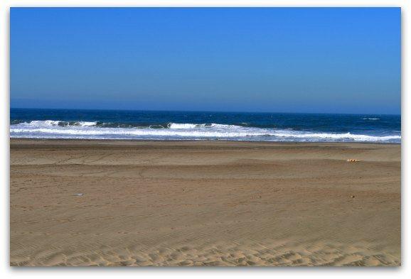 The waves at Ocean Beach San Francisco