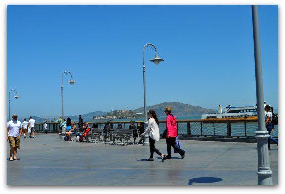 The Pier 41 Promenade in San Francisco's Fisherman's Wharf