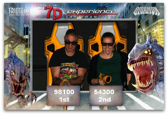 The final results of the winners of the Dark Ride at the 7D Experience.