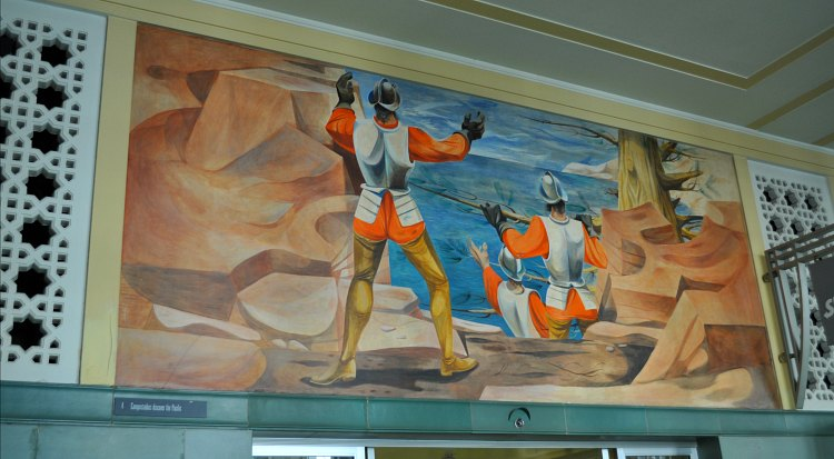 The first mural in the Rincon Center Mural set.