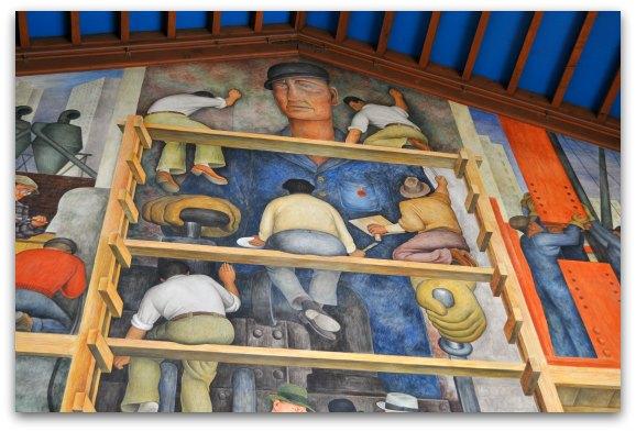 Rivera mural in san francisco