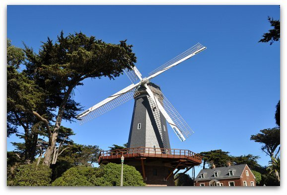 The southern murphy windmill in San Francisco's Golden Gate Park