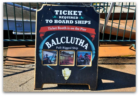 The Balclutha Ship at the Hyde Street Pier in San Francisco's Fishermans Wharf.