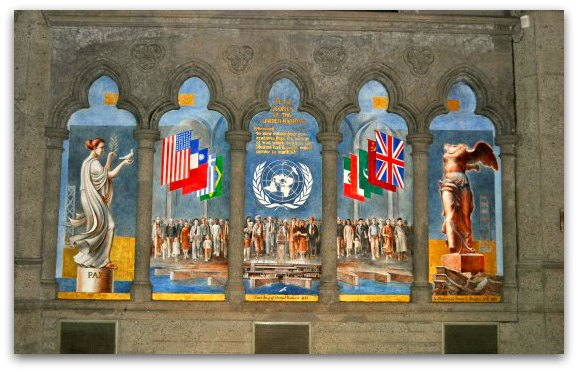 The UN Charter Mural in Grace Cathedral in San Francisco