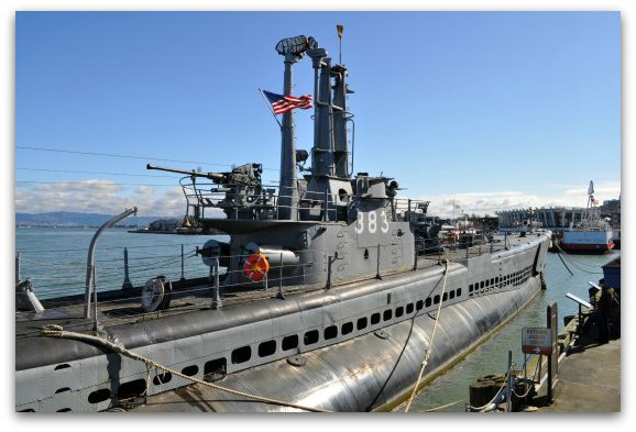 The USS Pampanito on SF's Pier 45 in Fisherman's Wharf