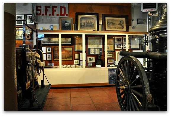 The 1906 earthquake and fire exhibit at SF's Fire Department Museum