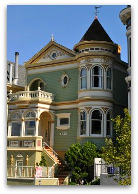 One of the painted ladies in San Francisco's Alamo Square
