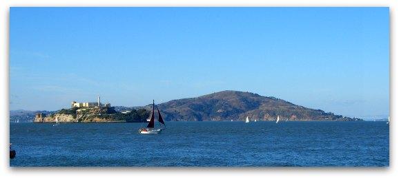 Angel Island San Francisco from Fisherman's Wharf