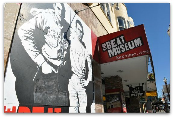 The mural outside the Beat Museum in San Francisco.