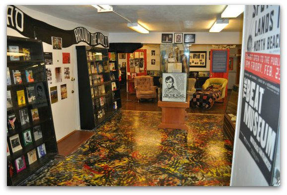 The second floor of the Beat Museum in SF