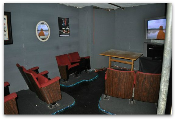 The small theater in the Beat Museum in SF's North Beach neighborhood