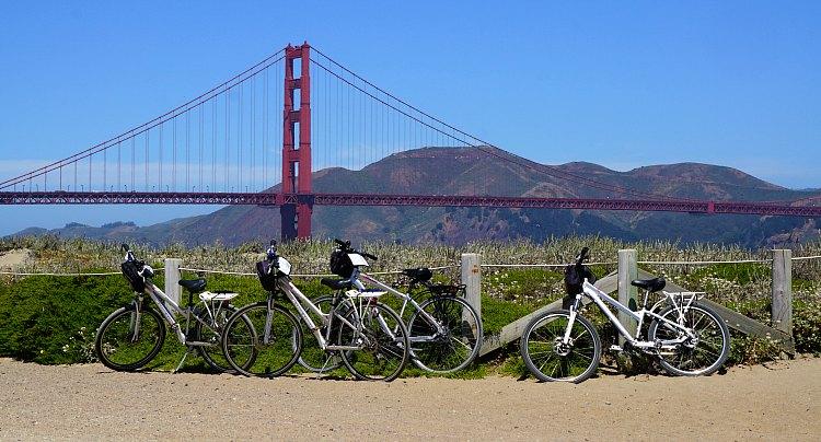 Bike Rentals Near the Golden Gate Bridge