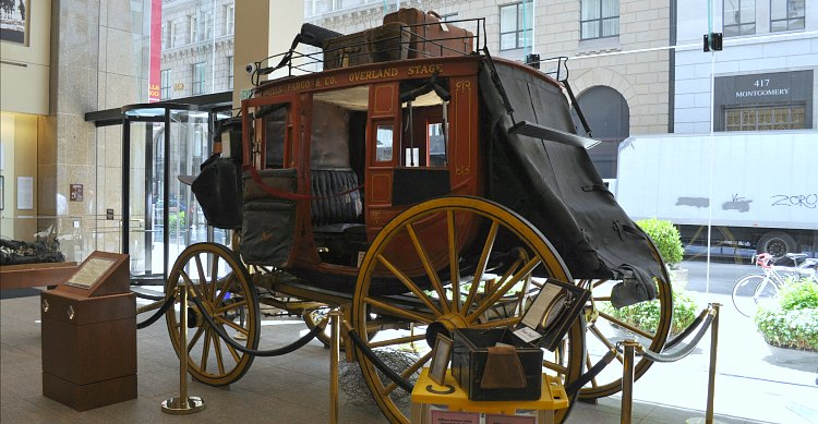 An original coach at the Wells Fargo Museum.