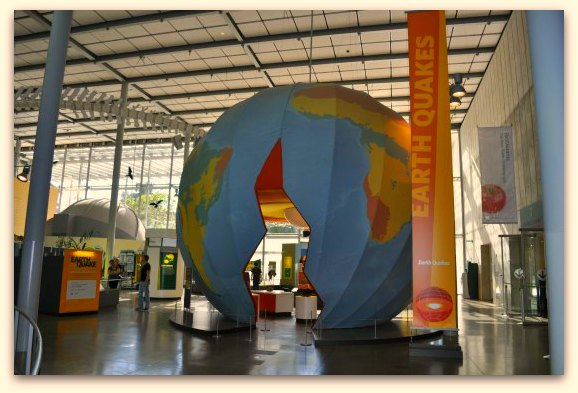 The entrance of the earthquake exhibit at the California Academy of Sciences in SF