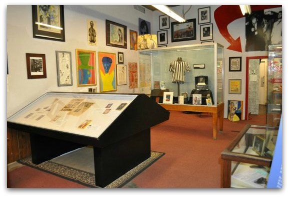 The first floor of the Beat Museum in San Francisco