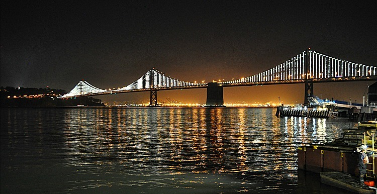 Night Lights Bay Bridge