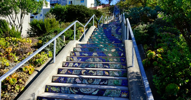 Stairs in the Sunset District in San Francisco