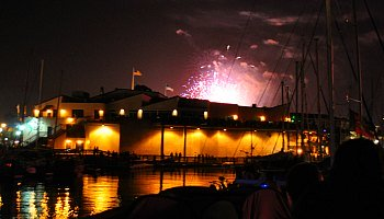 Fourth of July over Pier 39 in San Francisco