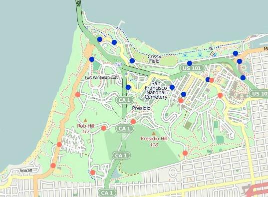 presidigo transit main stops map