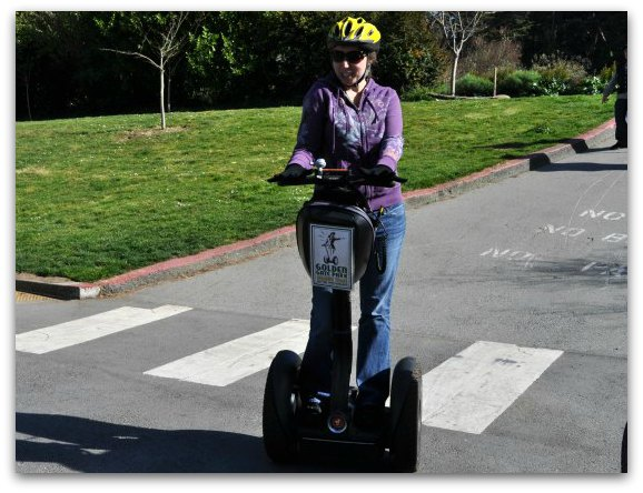 Me on my Segway during the Golden Gate Park T Tour